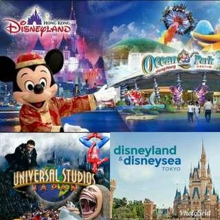 Tokyo Disney fixed date eticket