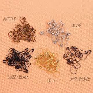 100 pcs hang tag pins, Pear shaped safety pins, Clothes label fasteners 21.5mm X 10mm
