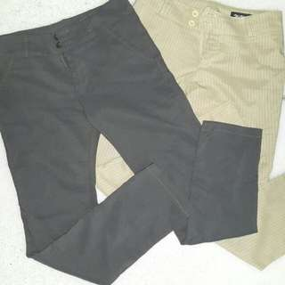 Office slacks (Gray and Nude stripes) Buy 1 Get 1