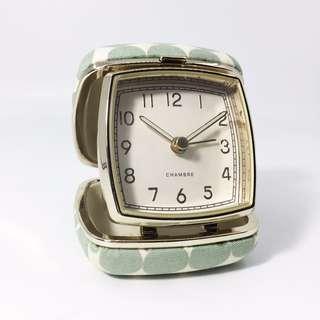 Unused Chambre Quartz Travel Alarm Clock