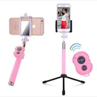 Bluetooth Selfie Stick with tripod stand (Black)