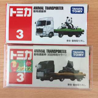 Taraka Tomy Tomica 動物運搬車 3號 熊 及 熊貓 一套不散賣