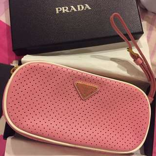 Authentic Prada Wrist Bag In Pink New