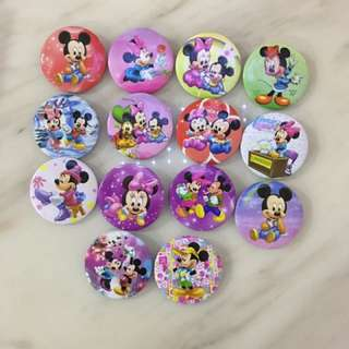 Mickey and Minnie badges - kids birthday goody gift, goody bag