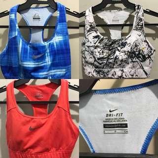3 Pieces Authentic Nike Women's Sports Bra Size S