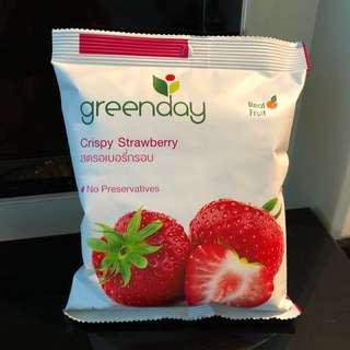 Greenday Crispy Strawberry 士多啤梨水果脆脆 25g