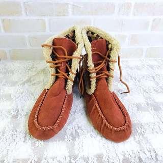 全新 麂皮靴 波西米亞 西部靴 雪靴 莫卡辛