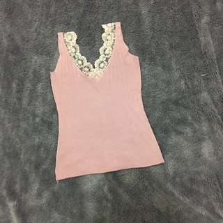 Flower lace tanktop