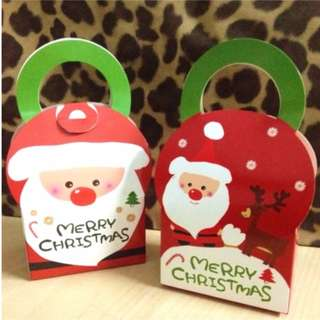 red Santa Claus Christmas cake candy pastry cookies gift box