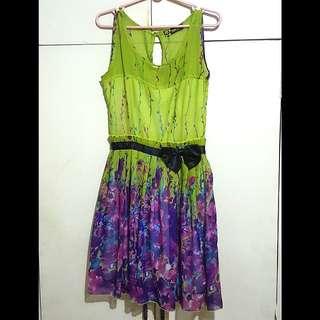 Meg Green Floral Dress