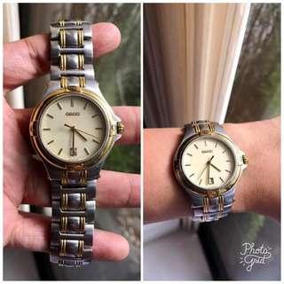 Gucci Authentic 2 Tone Mens / Unisex Watch