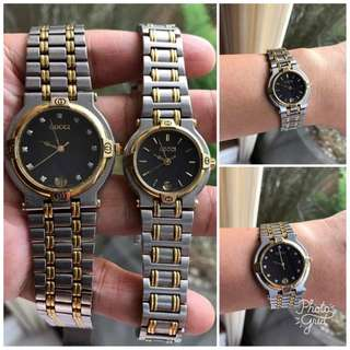 Gucci Authentic His and Hers 2 Tone Watch Set