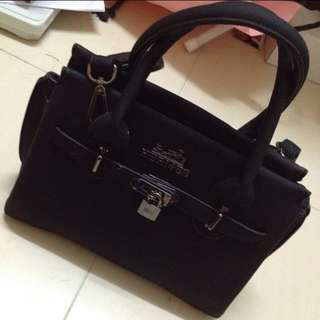 Bag Hermes inspired black