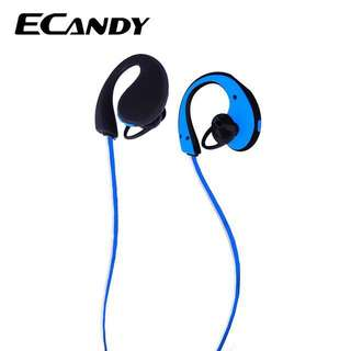 ECandy Sport Headphones Bluetooth V4.1 Noise Cancelling Headset Stereo Earbuds Earphones with Mic
