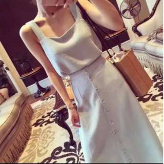 gray cotton terno dress