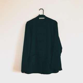 棉麻黑色唐裝上衣