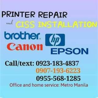 printer repair and ciss installation