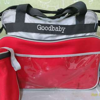 Goodbaby baby diaper bag with thermal bottle holder