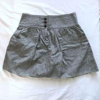 Mango Flower Gray Skirt