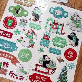 Wonderland Christmas Chipboard Stickers