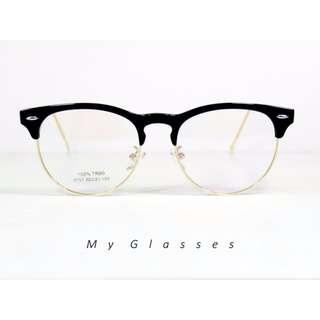 大框半圓框眼鏡-TR90-鏡框-墨鏡-Myglasses個人眼鏡