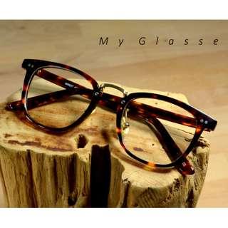 板材港式方框眼鏡(小版型)-半框-鏡框-板材鏡架-墨鏡-Myglasses個人眼鏡