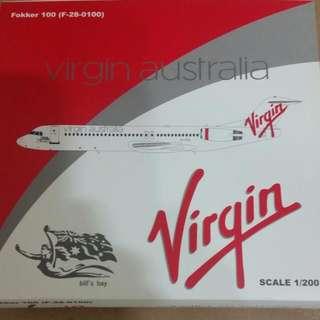 JC Wings 1:200 Virgin Australia Fokker 100.