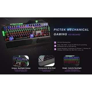 Pictek Mechanical Gaming Keyboard Cherry Mx Blue Switch
