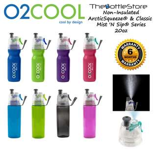 ⭐O2COOL®⭐ O2COOL® Single-Wall Mist N Sip® Sports Water Bottles