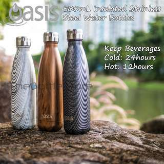 ⭐Oasis®⭐ 500mL Stainless Steel Double-Wall Insulated Thermal Water Bottles