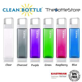 ⭐Clean Bottle®⭐ Square Bottle Tritan BPA Free with Infuser Technology