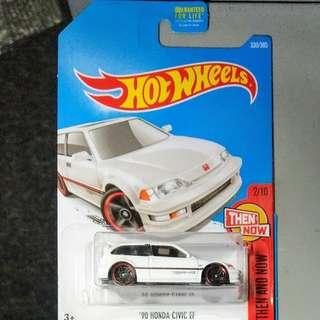 Hot wheels車 5架 包括 honda civic ef / snoopy / bmw e30 m3 race
