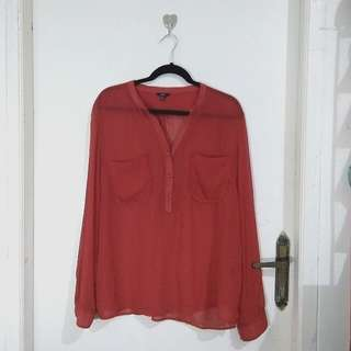 Red Blouse size XL
