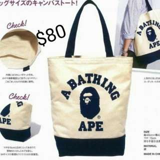 Bathing ape雜志附錄totebag
