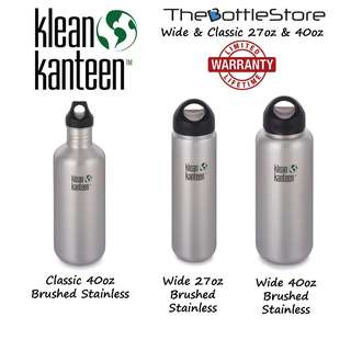⭐Klean Kanteen®⭐ Wide & Classic 27oz & 40oz Stainless Steel Bottles