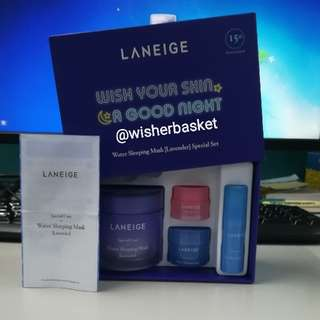 Laneige Goodnight Kit Blue And Violet Set