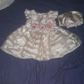 Baptismal gown 0-3mos