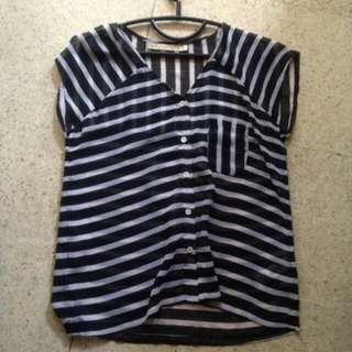 Hardware stripe blouse