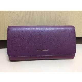 【私物 全新】:VERA BRADLEY:紫羅蘭色真皮長夾 紐約購入