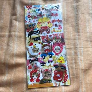 歡迎交換 台灣變裝相片貼紙 Decoration Sticker (包郵)