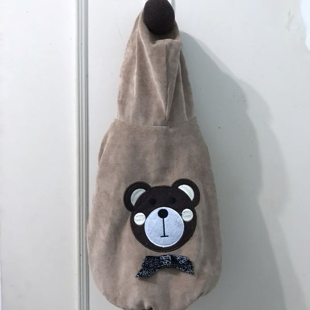 巧克力色可愛熊熊保暖寵物衣服