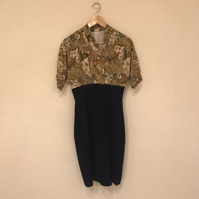 絕美復古連身高腰套裝/日本製