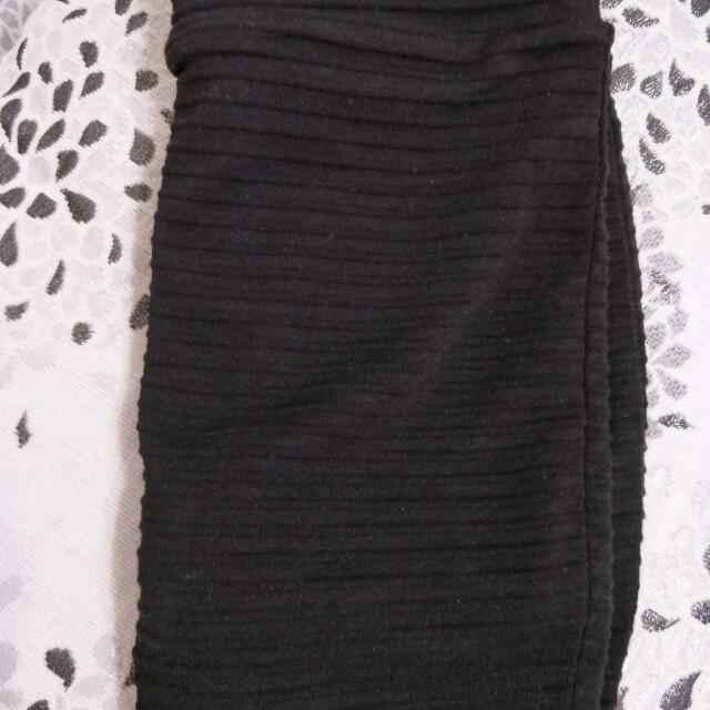 正韓黑色包裙褲