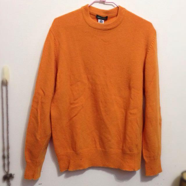男女皆可橘色毛衣
