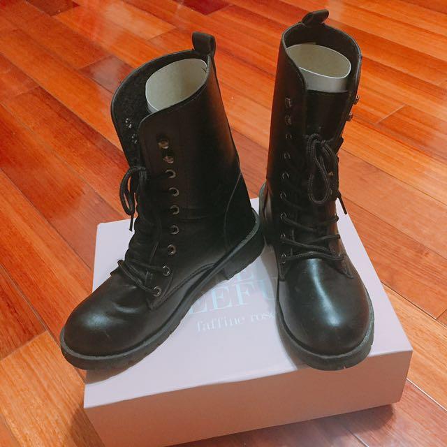 工程靴 馬丁靴23.5