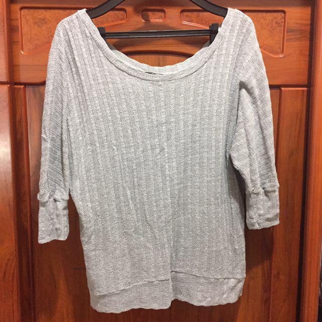 🎃二手🎃灰色針織罩衫 #手滑買太多