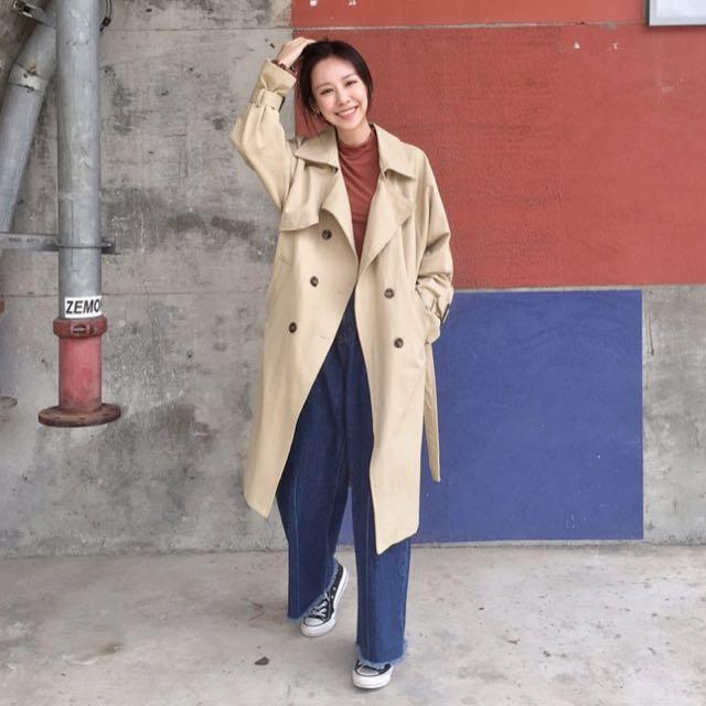 轉賣木卯 四排釦風衣外套
