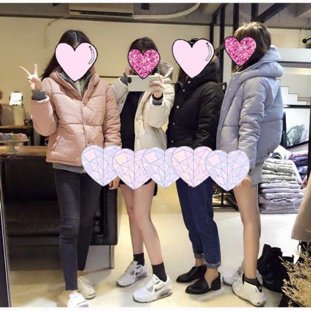 九成新 正韓 粉色連帽外套 #手滑買太多