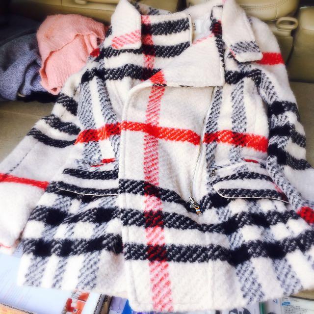 (正)韓國 不敗時尚格子大衣  ❤️ 全新 原價3800