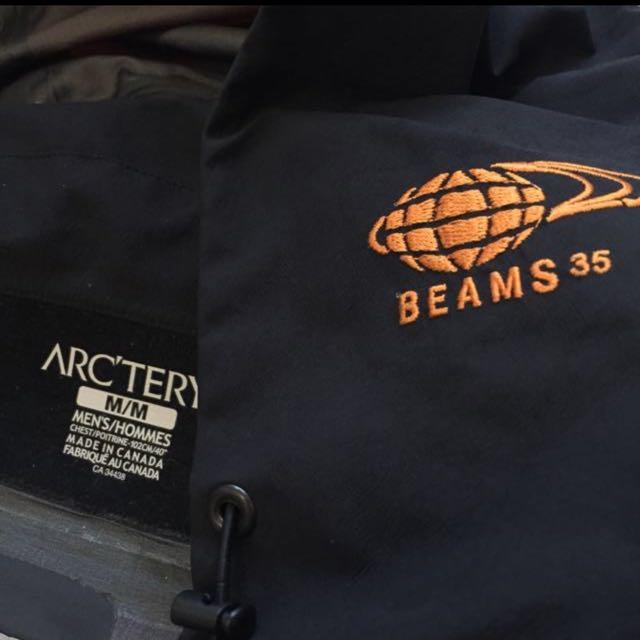 正品 Arcteryx 聯名beams 限定 Gore-tex 防水 風衣 始祖鳥 滑雪 登山 outdoor 別注